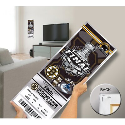 That's My Ticket NHL Boston Bruins 2011 Stanley Cup Game 7 Mega Ticket