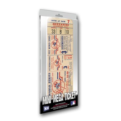 That's My Ticket 1952 MLB World Series New York Yankees Mini Mega Ticket