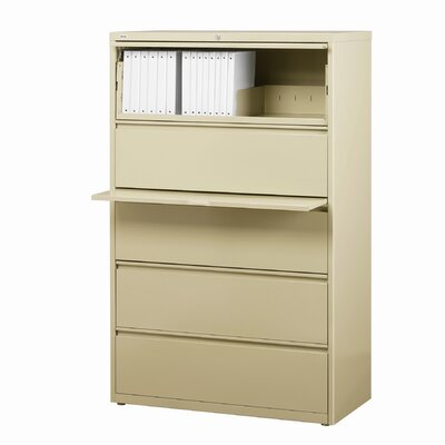 "CommClad 36"" Wide 5 Drawer Lateral File Cabinet"