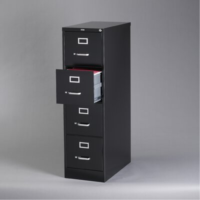 "CommClad 26.5"" Deep Commercial 4 Drawer Letter Size High Side Vertical File Cabinet"