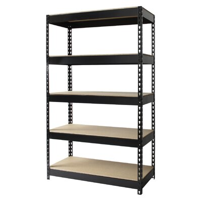 "CommClad Iron Horse Rivet 60"" H x 36"" W Five Shelf Shelving Unit"