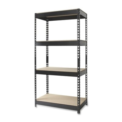 "CommClad 4-Shelf Horse Riveted Steel Unit, Steel, 30""x16""x60"", Black"