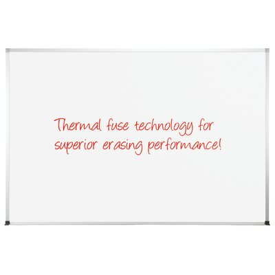 "CommClad 48"" x 96"" Thermal-Fused Melamine Whiteboard with Aluminum Trim"