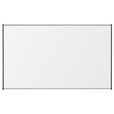 "CommClad 36"" x 48"" Thermal-Fused Melamine Dot Grid Whiteboard with Trim"