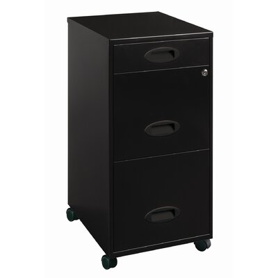 CommClad 3-Drawer Organizer Mobile File Cabinet