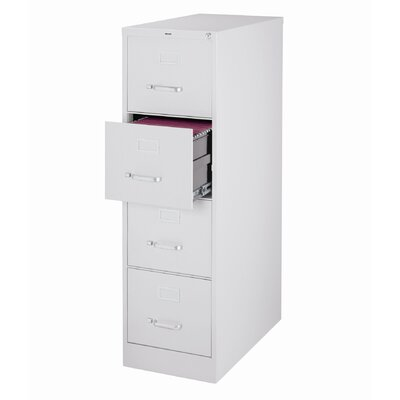 "CommClad 25"" Deep Commercial 4 Drawer Letter Size High Side Vertical File Cabinet"