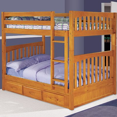 Discovery World Furniture Weston Full over Full Bunk Bed with Built-In Ladder and Storage