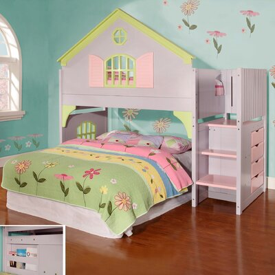 Discovery World Furniture Dollhouse Staircase Loft Bed