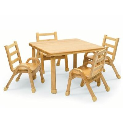 Angeles NaturalWood 20 Square Toddler Table and Chair Set