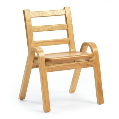 Angeles 11&quot; Wood Classroom Stacking Chair