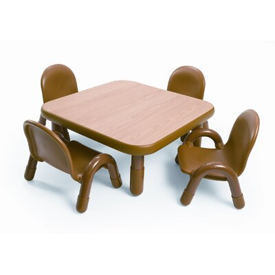 Angeles Square Baseline Toddler Table And Chair Set in Natural