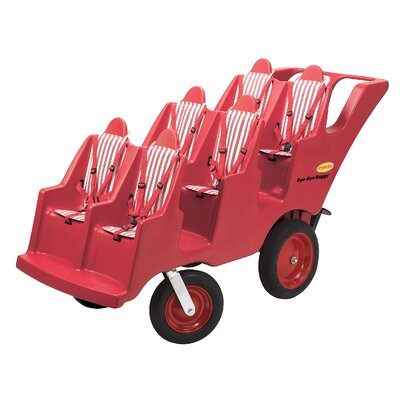 "Angeles 6 Passenger Never Flat ""Fat Tire"" Bye-Bye Buggy Tandem Stroller"
