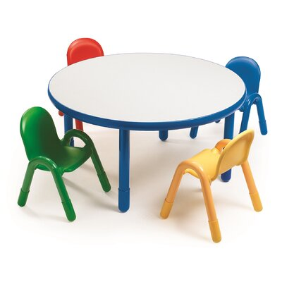 Angeles Round Baseline Preschool Table and Chair Set in Royal Blue