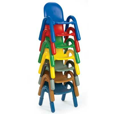 "Angeles 9"" PVC Classroom Baseline Chair"