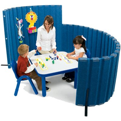 "Angeles 48"" SoundSponge Quiet Dividers Wall with 2 Support Feet"