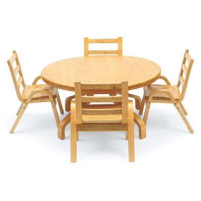 """Angeles NaturalWood 36"""" Round Table"""