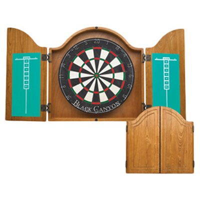 <strong>Black Canyon</strong> Dart Board Cabinet in Oak