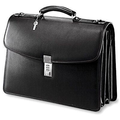 Jack Georges Platinum Triple Gusset Leather Laptop Briefcase