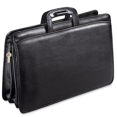 Jack Georges University Triple Gusset Leather Briefcase