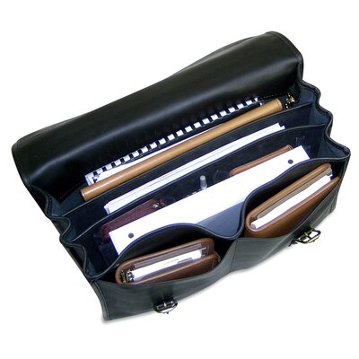 Jack Georges University Oversized Triple Gusset Flap Over Briefcase