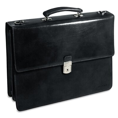 Jack Georges Sienna Triple Gusset Flap Over Briefcase
