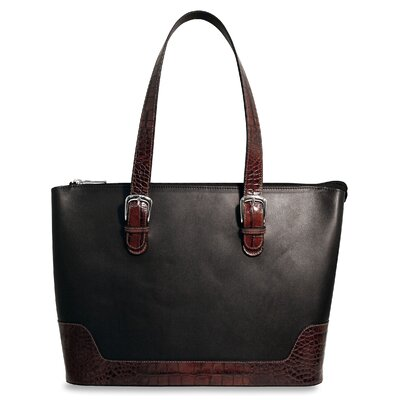 Jack Georges Venezia Large Business Tote in Black / Brown
