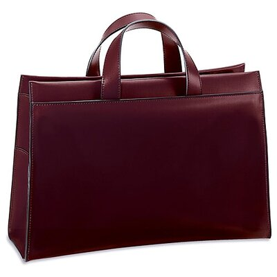 Jack Georges Milano Wide Gusset Zip Top Briefcase