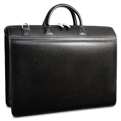 Jack Georges Prestige Triple Laptop Leather Briefcase