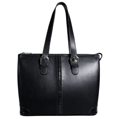 Jack Georges Prestige Madison Avenue Tote Bag with Croco Trim