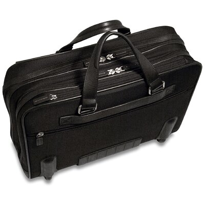 "Jack Georges Generations Lite 17"" Laptop Compatible Rolling Briefcase in Black"