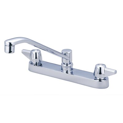 Double Handle Centerset Kitchen Faucet with 8