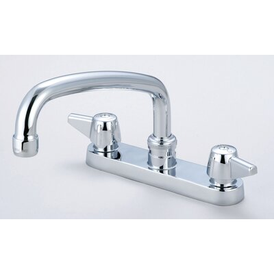 Double Handle Centerset Kitchen Faucet with 6