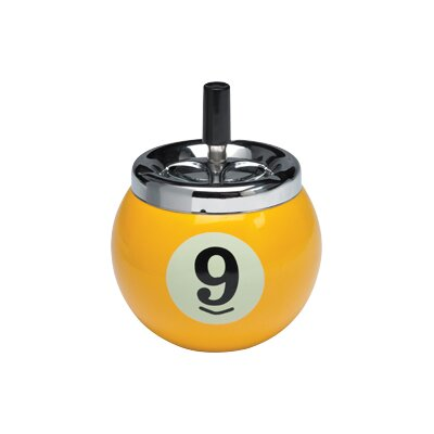 Cuestix Novelty Items Nine-Ball Push Button Ash Tray