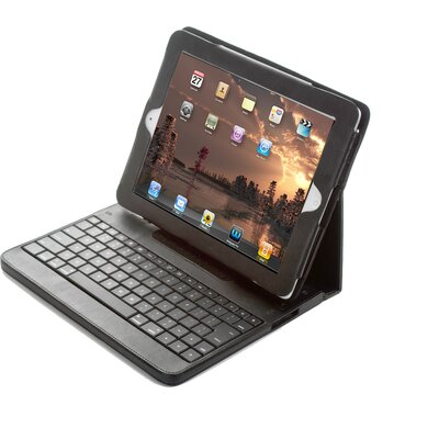 Sharper Image iPad2 Portfolio with Bluetooth Keyboard in Black