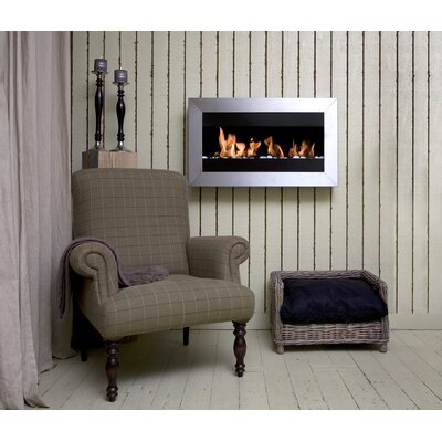 Bio-Blaze Square II Ethanol Fuel Fireplace with Glass Insert