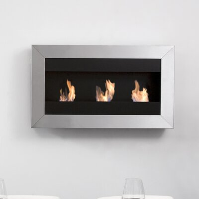 Bio-Blaze Square I Ethanol Fuel Fireplace with Glass Insert