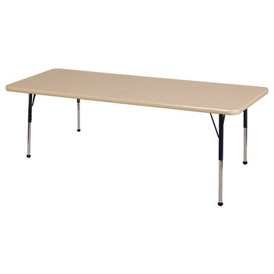 "ECR4kids 30"" x 72"" Rectangular Adjustable Activity Table in Maple"