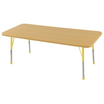 ECR4kids 30x60 Rectangular Adjustable Activity Table in Maple