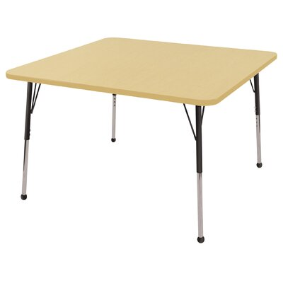 "ECR4kids 48"" Square Adjustable Activity Table in Maple"