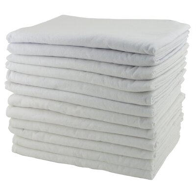 ECR4kids 12 Pack Cot Blankets in White