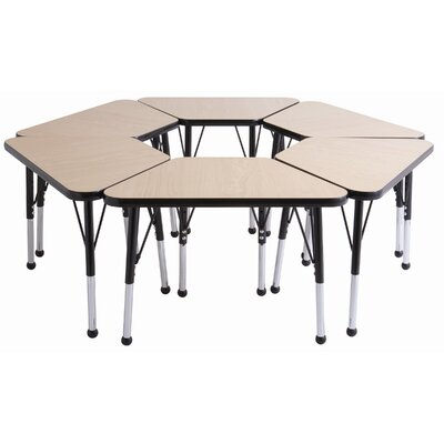 "ECR4kids 20"" x 33"" Trapezoid Learning Table in Gray"