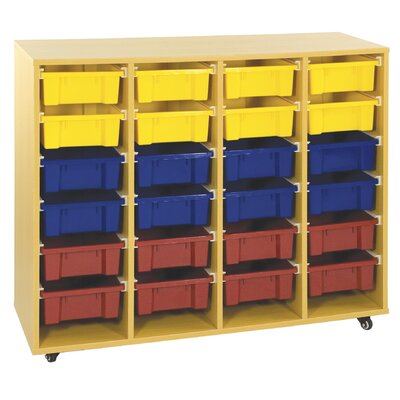 ECR4kids Storage Trolley 20 Compartment Cubby