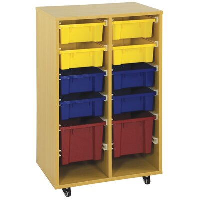 ECR4kids Storage Trolley with 10 Trays