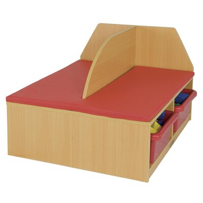 ECR4kids Sailboat Reading Bench with 2 Trays
