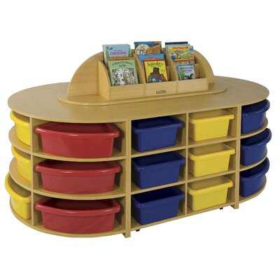 ECR4kids Five Piece Low Storage Island