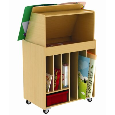 ECR4kids Mobile Storybook Center with Magnetic Dry Erase Board