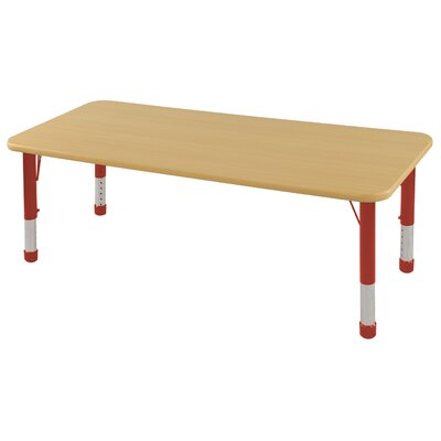 ECR4kids 24x72 Rectangular Adjustable Activity Table in Maple
