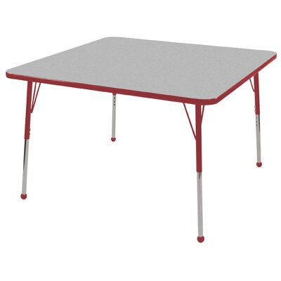 """ECR4kids 48"""" Square Adjustable Activity Table in Gray"""