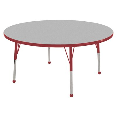 "ECR4kids 48"" Round Adjustable Activity Table in Gray"