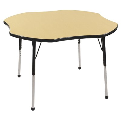 ECR4kids 48&quot; Clover Shaped Adjustable Activity Table in Maple